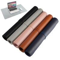 Superficie de descanso para el hogar, estera de escritura de cuero PU para escritorio, protección antiarañazos, fácil de limpiar, 80x40 Cm