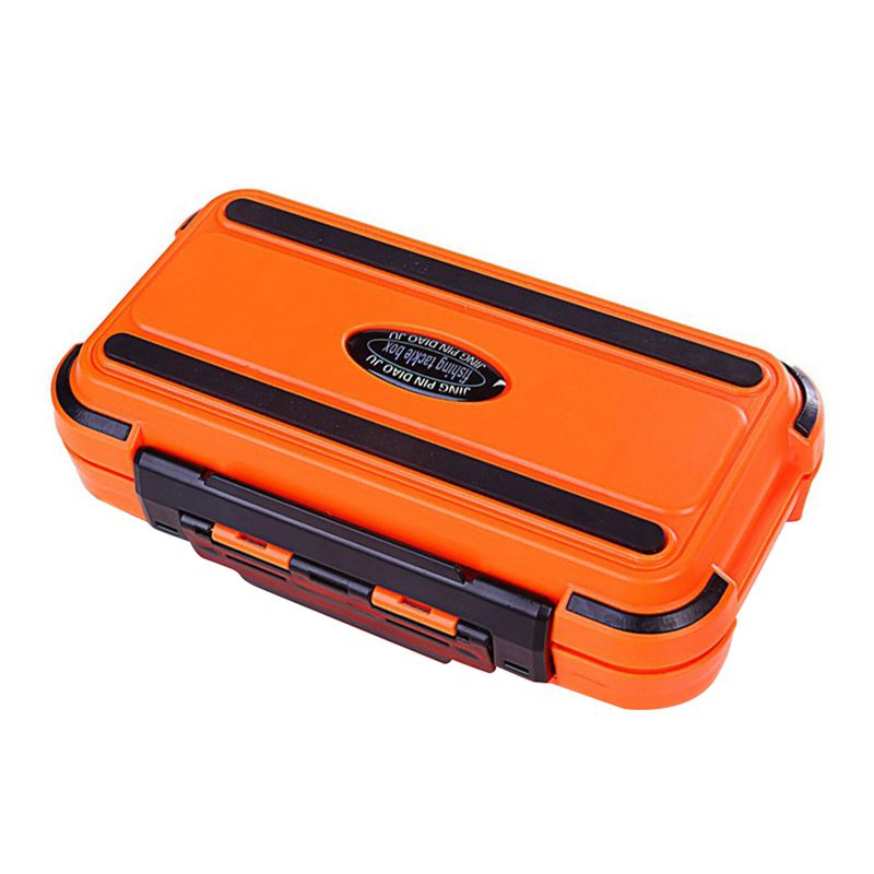 Lure Fishing Box 24 Compartments Double Layer Fishing Box Plastic Fishing Tackle Box Orange|Fishing Tackle Boxes| |  - title=