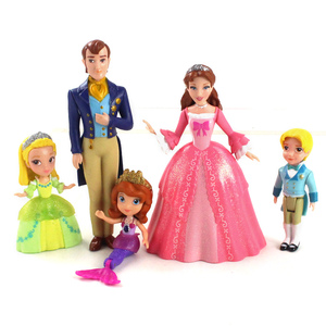 5pcs/lot 8cm Sofia the First Action Figure Princess Sophia Amber Prince James Hildegard King Roland Queen Miranda Model Toys(China)
