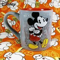 Disney Cartoon Anime Mickey Mickey Mouse Ceramic Cup Simple and Cute Large Capacity Mug Coffee Cup Collection Cup Milk Cup