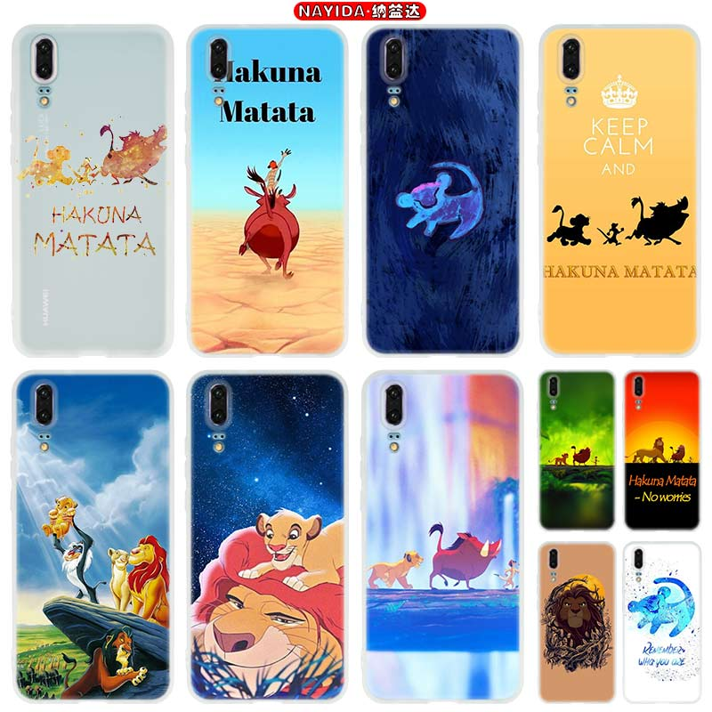 Phone Case For Huawei P10 P20 P30 Lite Plus Pro P8 P9 Lite 2017 P Smart Z 2019 Cover Star The <font><b>Hakuna</b></font> <font><b>Matata</b></font> <font><b>Lion</b></font> <font><b>King</b></font> image