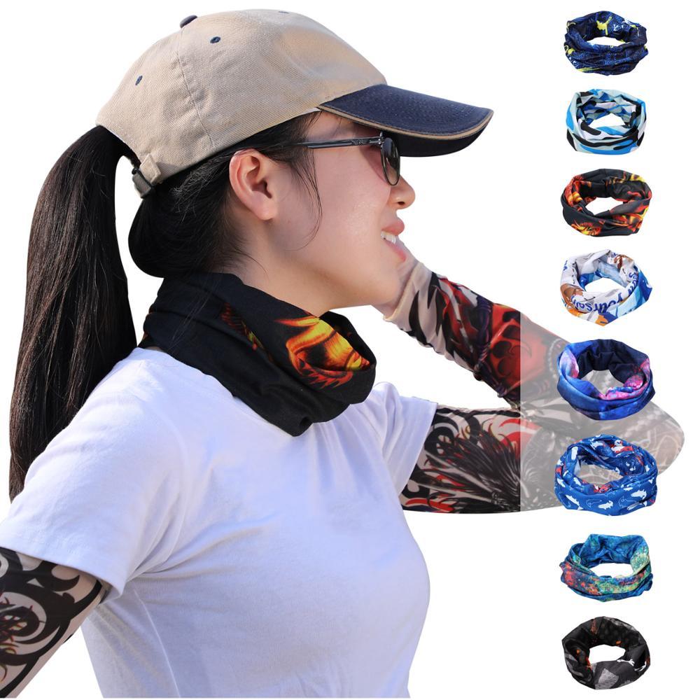 Sougayilang Multi-Purpose Headdress Pattern Sunscreen Set Summer Sunscreen Seamless Variety Magic Cover Fishing Head
