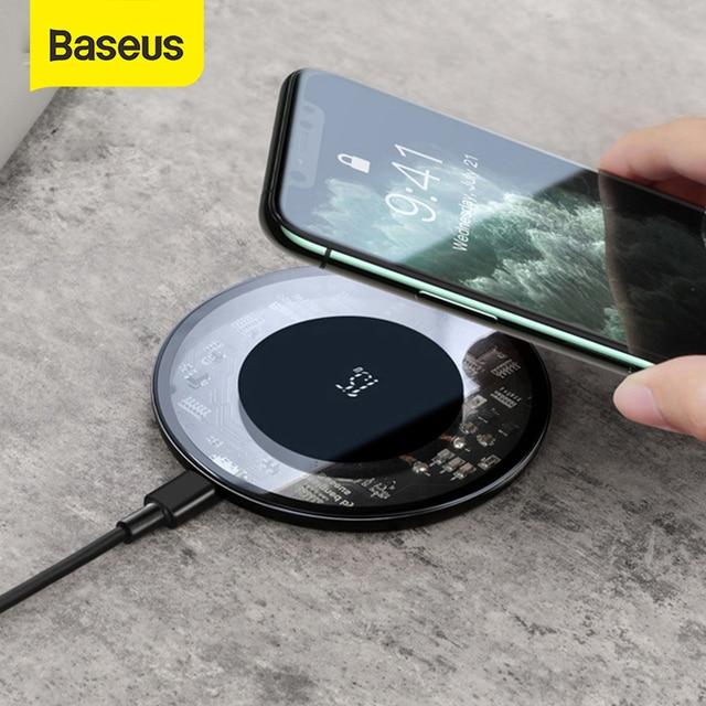 Baseus 15W Drahtlose Ladegerät Für iPhone 11 X XS Max XR Airpods Pro Qi Drahtlose Schnelle Lade Pad Für samsung S10 S9 S8 Xiaomi