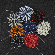 Punk Ball Lapel multiple colors  Handmade Boutonniere Stick Brooch Pin Men Brooch Lapel Pin For  Wedding Party small daisy shaped corsage multiple colors handmade boutonniere stick brooch pin men brooch lapel pin for wedding party
