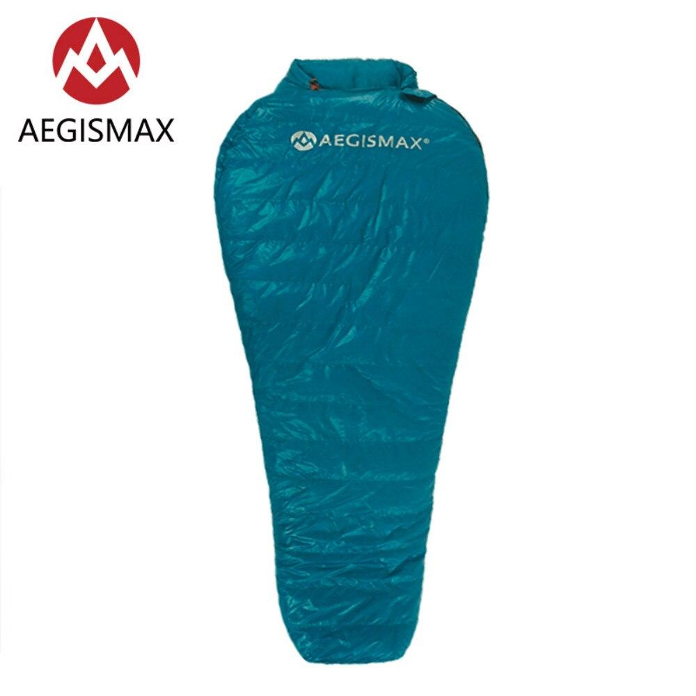 AEGISMAX NANO2 95% белый гусиный пух Мумия спальные мешки Splicable Ultralight для весны и осени Открытый Отдых Туризм Porta