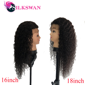 Silkswan Deep Wave Human Hair Wigs 13x2 Curly Lace Front Wig 150 Density Pre plucked Brazilian Human Hair Wigs For Black Women