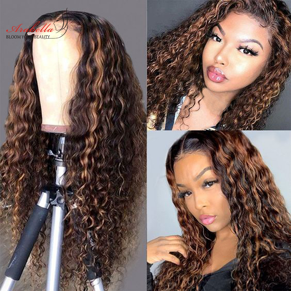 Deep Wave Closure Wig 100%  Wigs With Baby Hair Lace Frontal Wig Arabella  Lace Closure Wig Deep Curly 3