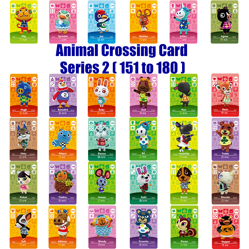 Amiibo Card Series 2 (151to 180) Animal Crossing Card Work forNS Game image