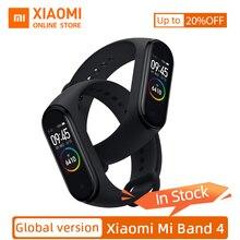 """Globalna wersja Xiao mi mi zespół 4 Fitness tętno inteligentny zegarek 0.95 """"AMOLED kolorowy ekran dotykowy mi zespół 4 natychmiastowa wiadomość 135mAh"""
