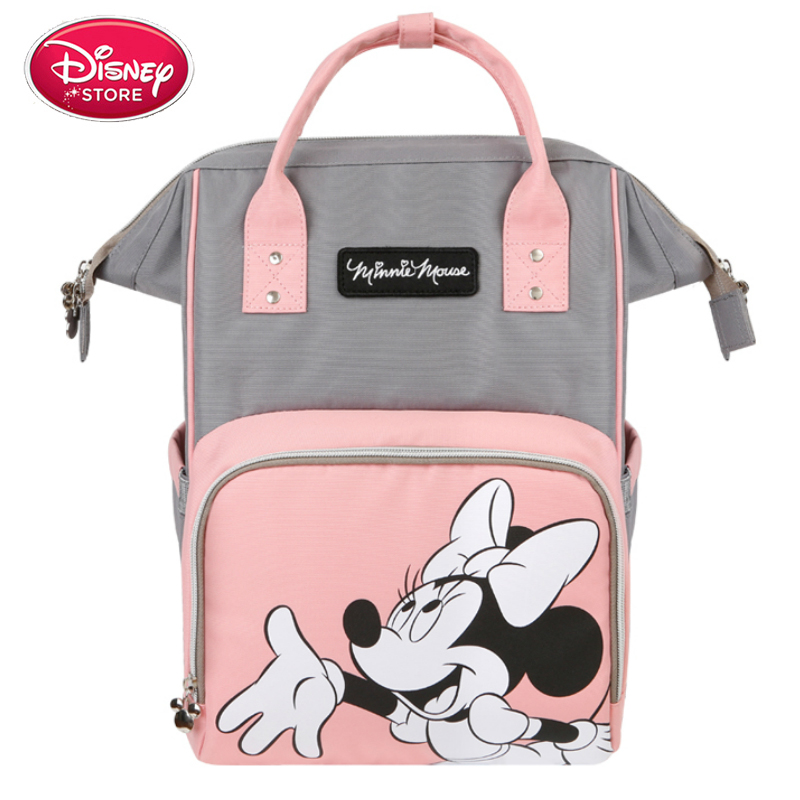 Disney Mickey Minnie Mouse Diaper Bags Mummy Maternity Nappy Bag Large Capacity Baby Care Nursing Bag Mom's Travel Backpack