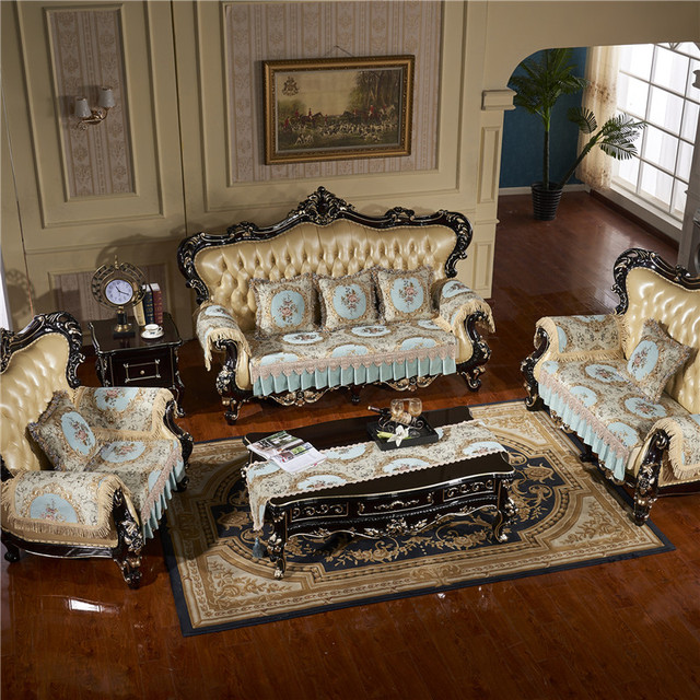 High quality Anti slip Sofa Cover Jacquard Lace Sofa cushioncover For Living Room 1/2/3/4 seater couch cover set custom size