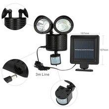 22 Led Outdoor Solar Light Dual Detector Motion Sensor Beveiliging Verlichting Waterdicht Straat Wandlampen Tuin Yard Wandlamp