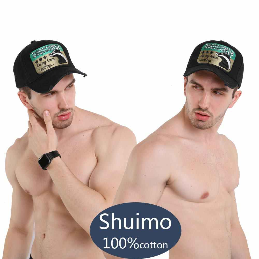 DSQICOND2 Marke herren Hüte und Caps Männer Schwarz Cap Sombrero Hombre Baseball Kappe Snapback Hip Hop Novidades Para vender 2019