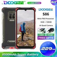 Doogee s86 áspero telefone móvel helio p60 octa núcleo 8500mah super bateria 6gb + 128gb bandas de freqüência globais 6.1 hd hd hd + telefone