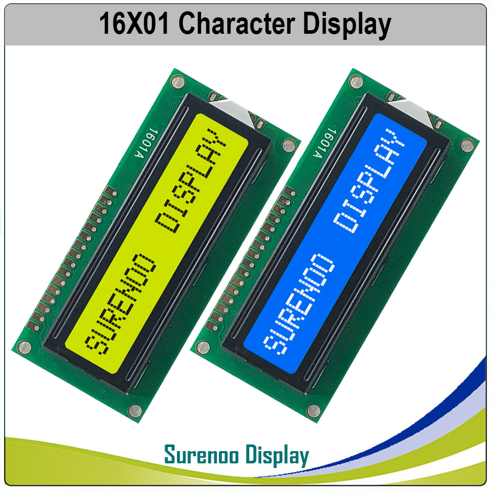 161 16X1 1601 Character LCD Module Display Screen LCM Blue Yellow Green With Backlight