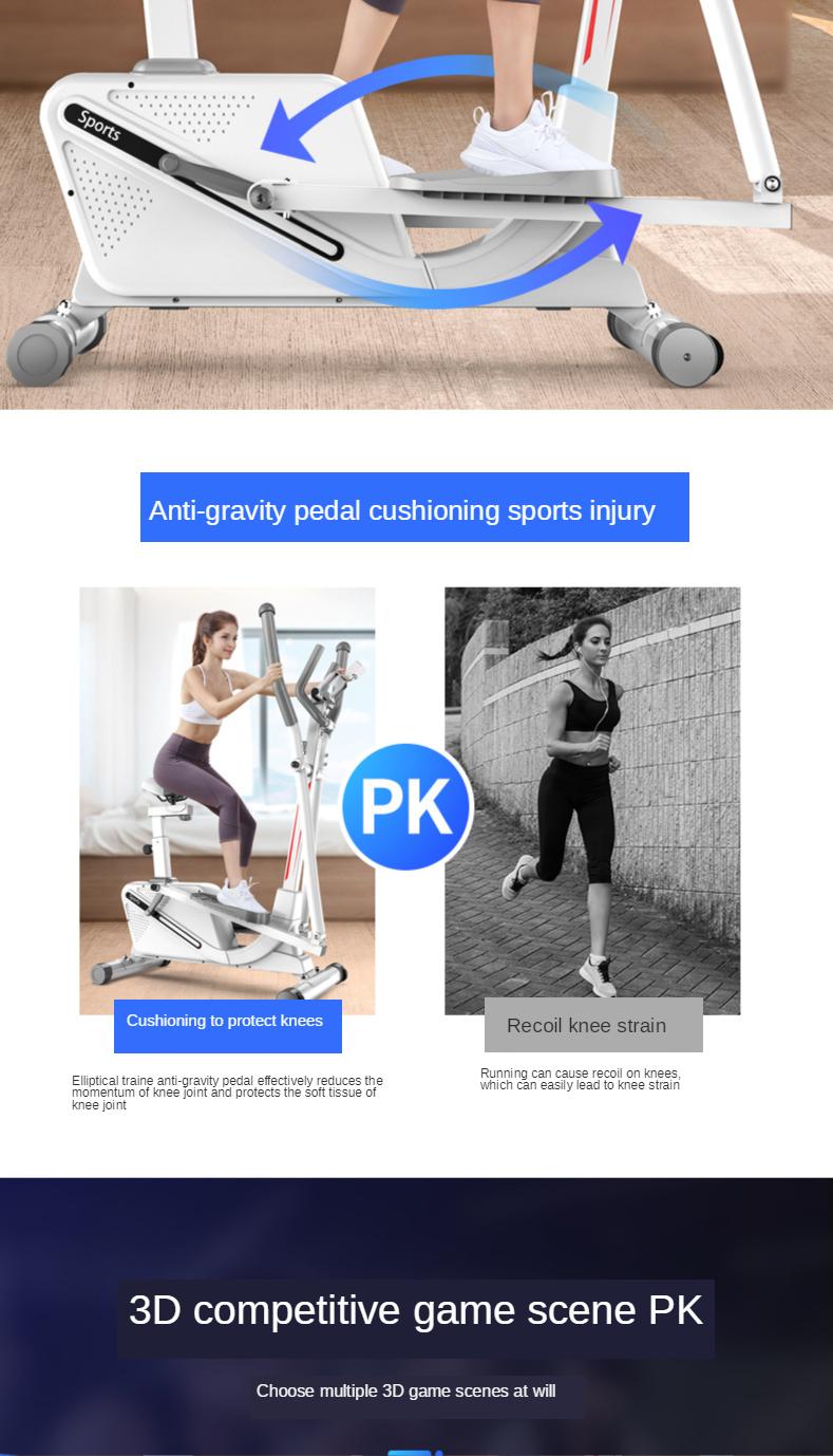 exercício e controle magnético para bicicleta, máquina de caminhada silenciosa