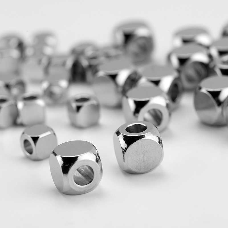 Charm Spacer Beads for Jewelry Making 9 6mm Stainless Steel Paracord Beads Custom Engrave Logo Name Diy Bracelet Necklace Lot