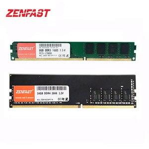 ZENFAST DDR3 DDR4 4GB 8GB 16GB 32GB Memoria Ram 1333 1600 2133 2400 2666 Memory Desktop Dimm DDR4 1.2V 288PIN DDR3 1.5V 240PIN