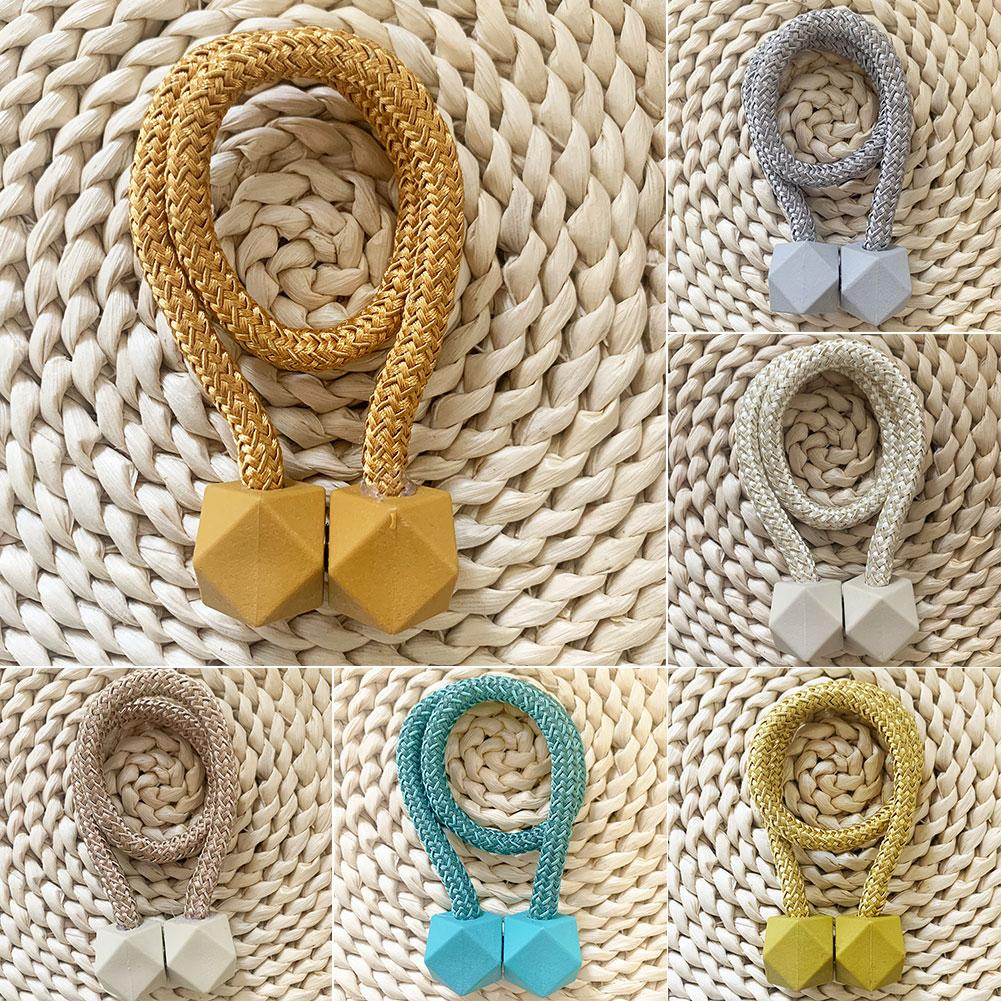 Magnetic Polyester Curtain Tieback Holder Hooks Ball Buckle Clip Home Decor Tie Back Curtain Accessories Home Decor Hot Fashion