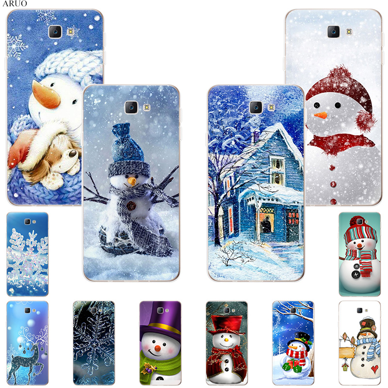 Winter Christmas Smile Snowman Soft Silicone phone case for Samsung Galaxy A8star A92018 A6 A8plus A7 A52017 A 80 70 <font><b>50</b></font> <font><b>40</b></font> cover image