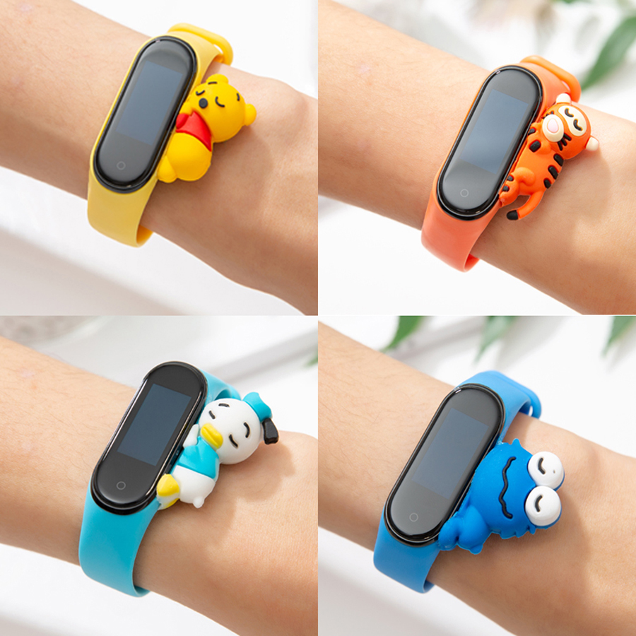 Cartoon Strap For Xiaomi Mi Band 3 4 Smart Watch Wrist M3 M4 Plus Bracelet For Xiaomi MiBand 3 4 Miband Strap Replacement