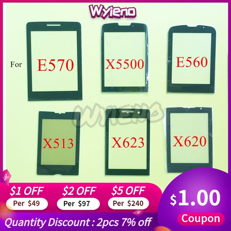 Wyieno Black Glass Screen For <font><b>Philips</b></font> <font><b>Xenium</b></font> E570 / X5500 / <font><b>E560</b></font> / X623 / X513 Glass Screen Lens Outer Front Panel 10pcs/lot image
