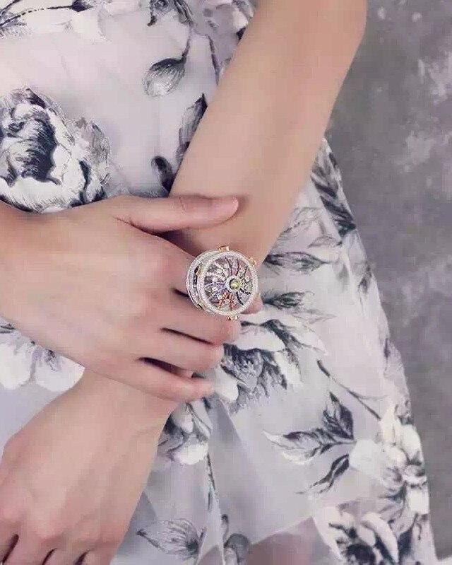Créateur de mode 925 bijoux en argent Sterling 3A cubique zircone fête anneau manège design pour les femmes - 2