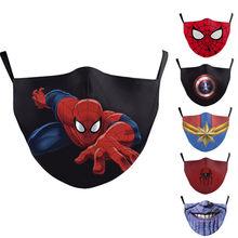 Maks protetores maks de algodão anti-poeira para meninos meninas brinquedos disney marvel quente marvel spiderman adulto rosto das crianças maks