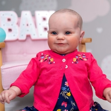 24inch/60cm Interactive Toys Realistic Newborn Baby Dolls Soft Vinyl Magnetic Mouth Soft Body Boy Doll with Red Dresses