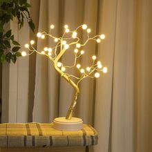 Pearl Firefly LED Copper Wire Tree Light Christmas Decoration Lights String Fairy Light String Night Lights Battery Box USB