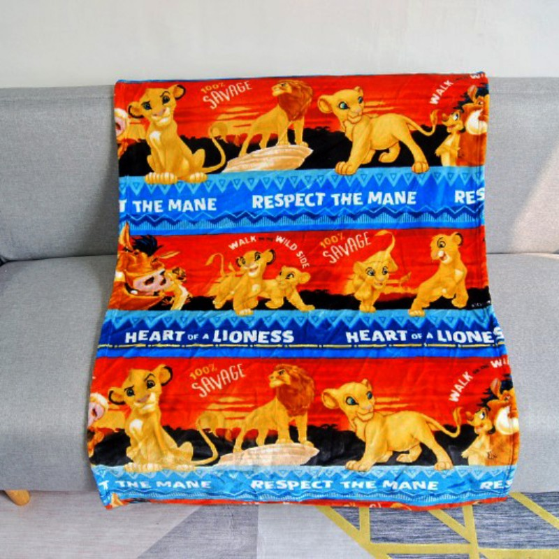 Disney Soft Coral Fleece Blanket Throw 100x140cm Mickey Mouse Simba For Girls Boys Children's Kids Gift Bedroom On Bed Sofa
