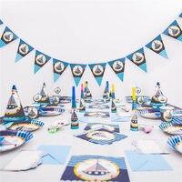 90pcs/set nautical theme party set kids birthday party nautical theme party party tableware party supplies theme activities