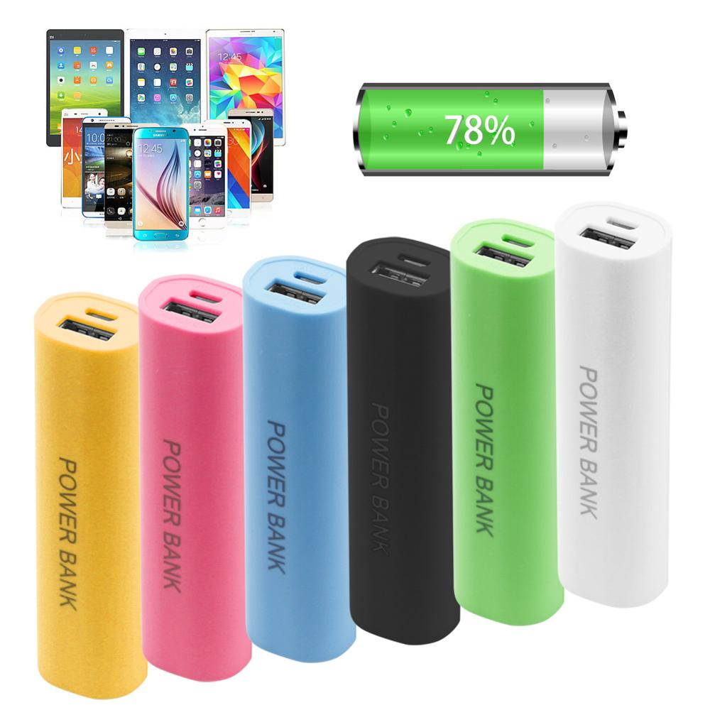 6 Colors Optional 1x 18650 3 7V Li ion battery Portable Mobile USB Power Bank Charger