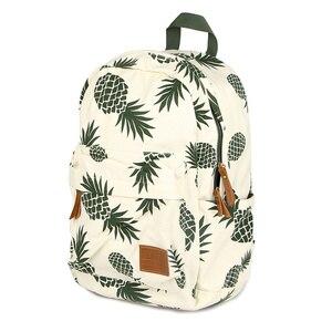 Image 2 - Vintage moda ananas gençler için sırt çantaları kızlar yüksek kaliteli kanvas laptop sırt çantası meyve baskılar kadın seyahat sırt çantası
