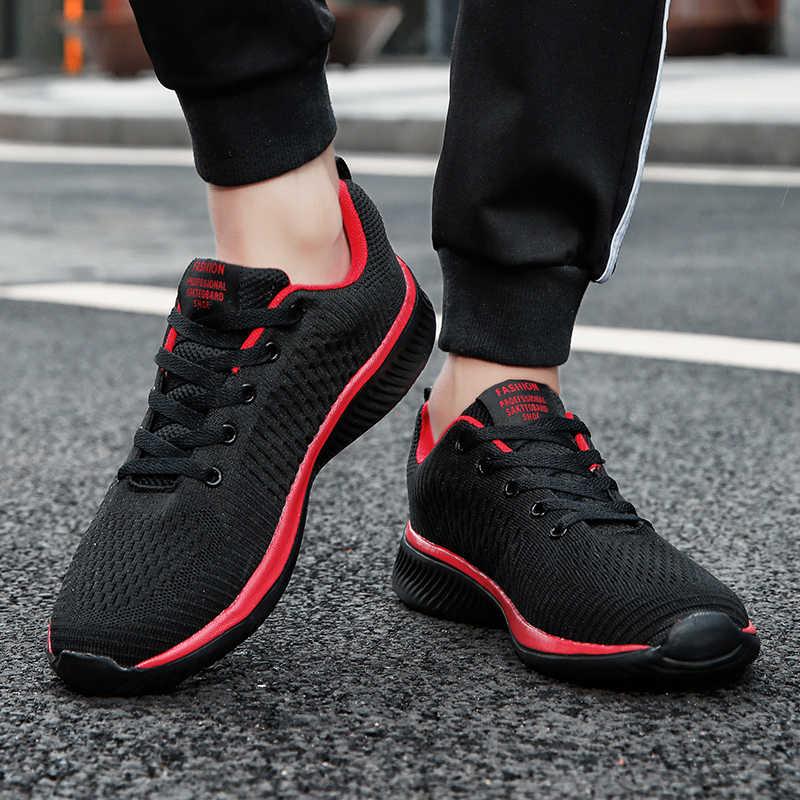 الصيف تنفس حذاء رجالي كاجوال شبكة تنفس رجل أحذية غير رسمية موضة الأخفاف خفيفة الوزن الرجال أحذية رياضية رائجة البيع
