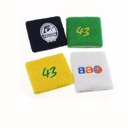100% coton bracelet sport gymnastique basket-ball Tennis bracelet poignet protecteur Logo personnalisé accepter 250 pièces/500 pièces/750 pièces