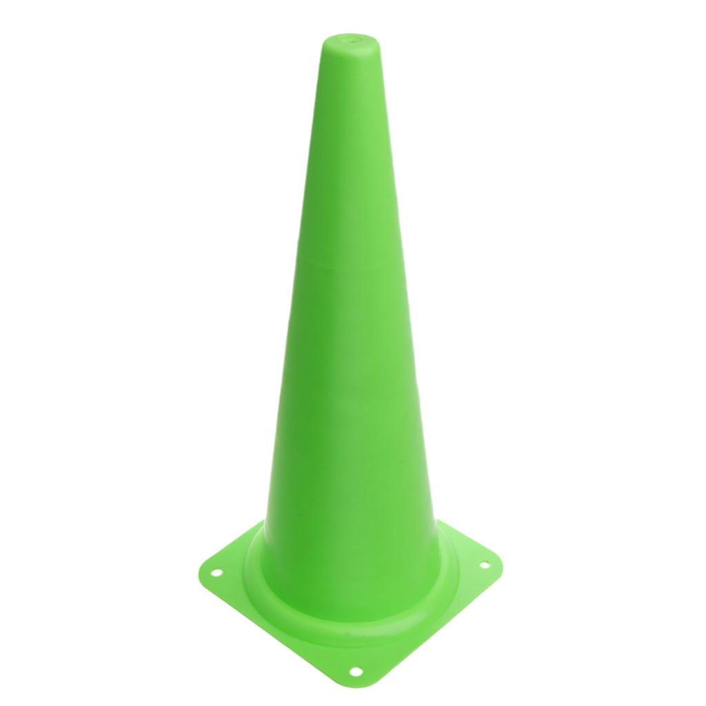 48 см конус безопасности для спортивных тренировок, футбола, строительства, дорожного движения - Цвет: Зеленый