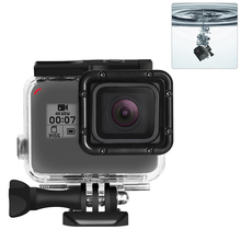 RuigPro 45m Underwater Waterproof Case for GoPro Hero 7 6 5 Black Diving Protective Cover Housing Mount for Go Pro  Accessory diving waterproof case underwater housing case mount camera accessories for gopro hero 6 5 black action