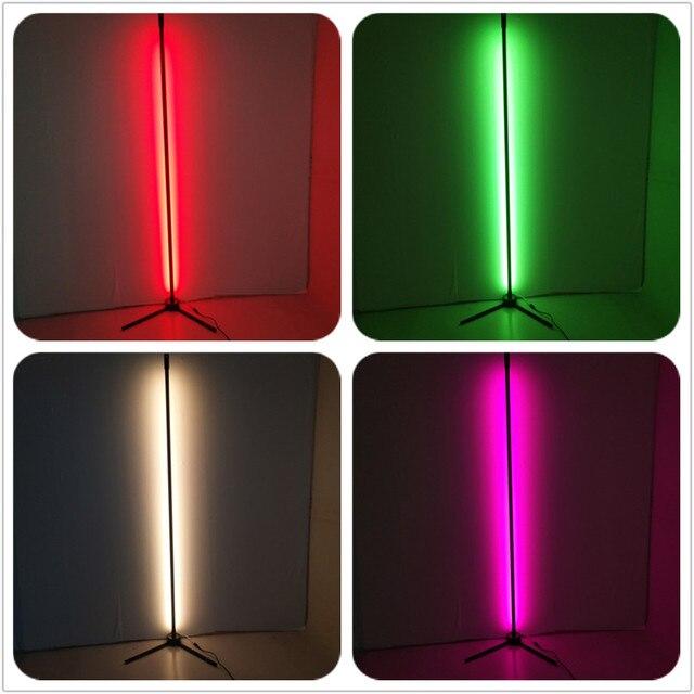 Nowoczesne RGB ściemniania zdalnego LED lampy podłogowe 365 typ kolory zmiana rogu lampa stojąca dla bar dekoracja sypialni drop ship