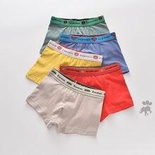 Meninos roupa interior crianças calcinha meninos algodão boxer shorts crianças roupa interior para 2-16t 5pcs calcinha adolescente para crianças