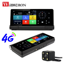 7 0 #8243 IPS 4G Car DVR Camera GPS NavigationSim Card Android 5 0 WIFI Bluetooth Full HD 1080P Dual Lens Rearview Camera Free Map cheap winkcron CN(Origin) 800x480 MP3 MP4 Players Mobile Phone Touch Screen Vehicle GPS Units Equipment dual lens dvr camera