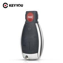 KEYYOU-3 botones para Mercedes Benz C E S CLS W204 W202 W212 W211 W203 W205, funda para mando a distancia del coche