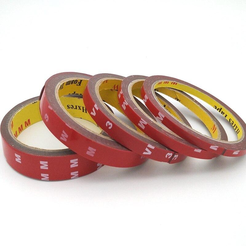 Клейкая лента 3 м 6/10/15/20/30/40 мм, двухсторонний скотч, прочная прозрачная клейкая лента, не оставляет следов, стикер для цемента или кирпича