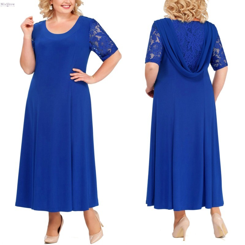Long Plus Size Mother Of The Bride Dresses 2020 Elegant Wedding Party Gown Half Sleeve robe mere de la mariee Gift For Women