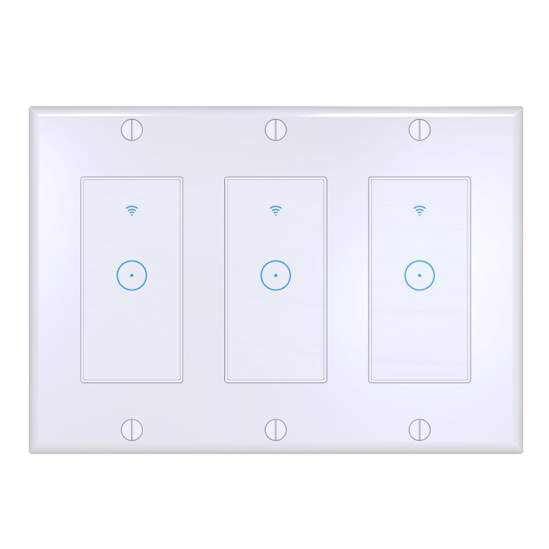 1/2/3 Gang Smart Home WiFi Touch Light Wall Switch Panel For Alexa / For Google APP