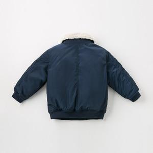 Image 3 - Dbk10691 데이브 벨라 겨울 아이 소년 재킷 면화 의류 어린이 겉옷 패션 해군 지퍼 코트