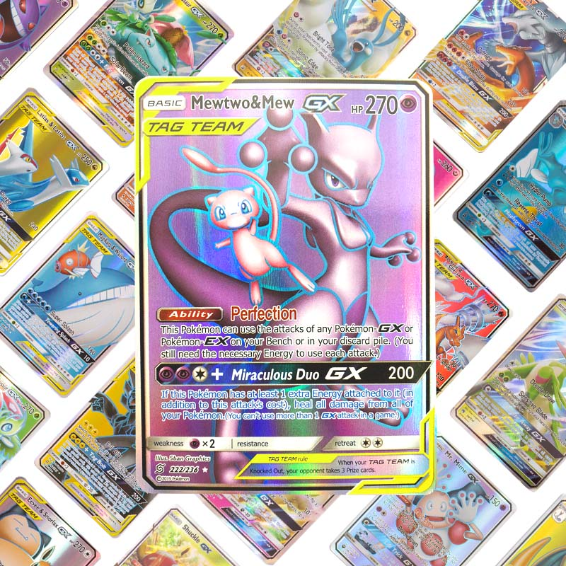 Kids Home Pokemon Card Game Battle Toys New Card  10 20 30 60 100 200 324 GX EX MEGA Trading Card Collection Game