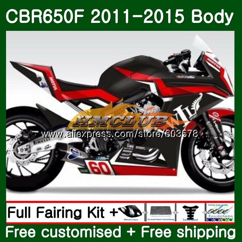 CBR-650F Pour HONDA CBR 650F 650 F 2011 2012 2013 2014 2015 130CL. 1 Gloss couleur CBR650 F CBR-650 CBR650F 11 12 13 14 15 Carénage