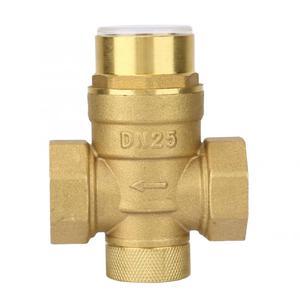Image 3 - Válvula reductora de presión de 1 pulgada, regulador de presión de agua de latón con medidor de calibre, válvula de bola