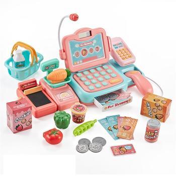 Kuulee simuler la forme de caisse enregistreuse semblant jouer Scan carte de balayage ensemble de jouets éducatifs pour enfants bébé